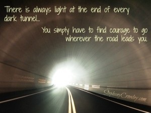 Courage wherever the road leads